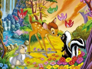 Bambi y los animalitos del bosque
