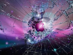 Apple. Cristal roto