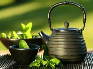 Té y hierbabuena