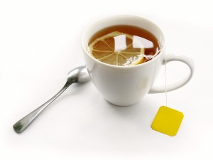 Postal: Té con limón