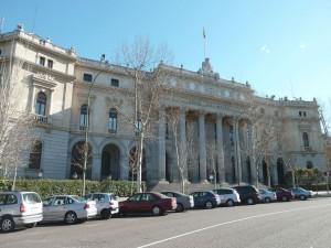 Fachada del Palacio de la Bolsa de Madrid (España)