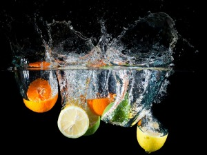 Cítricos al agua