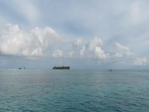 Acercándose a la isla