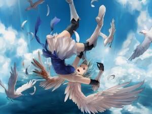 Postal: Caída de un ángel