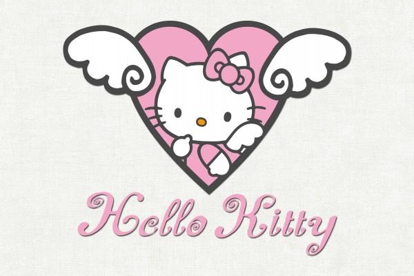 Corazón con Kitty