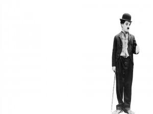 Charles Chaplin con su bastón