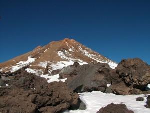 Postal: Pico del Teide en invierno