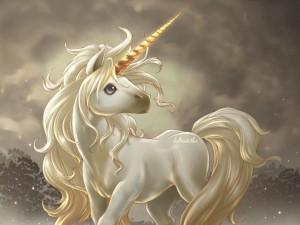 Postal: Unicornio mágico