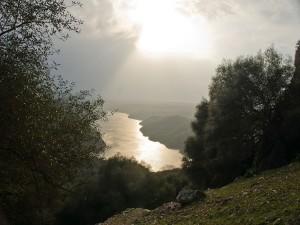 Río Tajo a su paso por el Parque Nacional de Monfragüe (España)