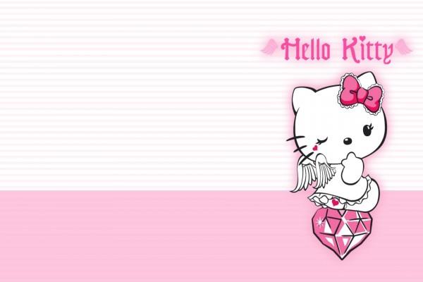 Hello Kitty guiñando un ojo