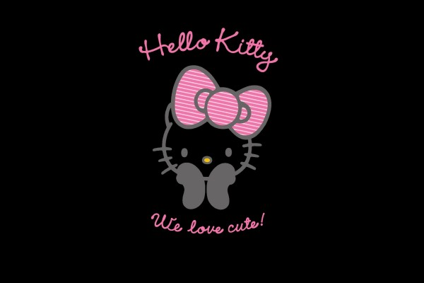 Hello Kitty con un lazo rosa