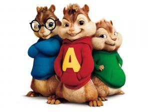Postal: Alvin y las ardillas