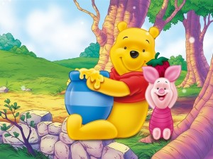 Postal: Pooh y Piglet