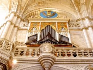 Postal: Órgano de la iglesia de San Esteban (Museo del Retablo) de Burgos, España