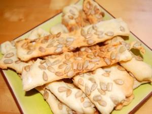 Postal: Tiras de pan con semillas de girasol