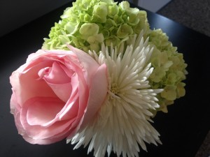 Postal: Un bonito ramo de flores