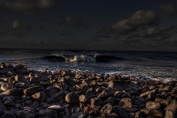 Ola oscura del mar