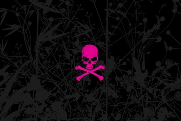 Pink Emo Skull
