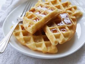 Waffle con miel
