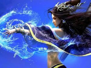 Postal: Diosa del agua