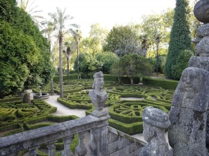 Postal: Pazo de Mariñán (jardín principal y escalera)
