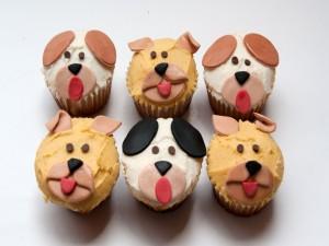 Cupcakes con caras de perros