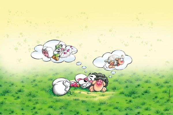 Diddl, soñando