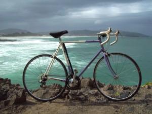 Bicicleta junto al mar