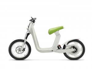 Moderna bicicleta eléctrica