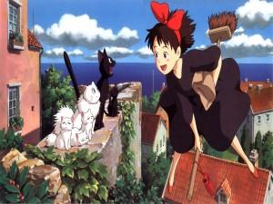 """Postal: """"Nicky la aprendiz de bruja"""", de Hayao Miyazaki"""