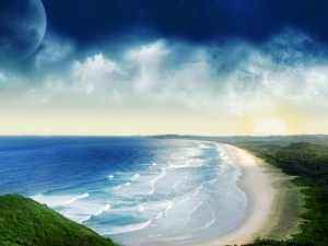 Postal: La playa
