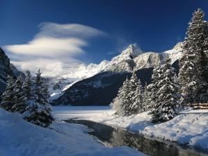 Glaciar Victoria, en el Lago Louise, Canadá