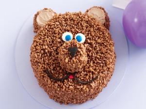 Tarta con cara de oso