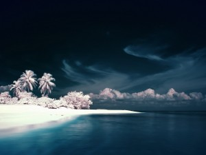 Postal: Playa en invierno