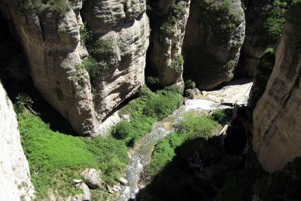 Río Guadalevín, en Ronda, Andalucía, España