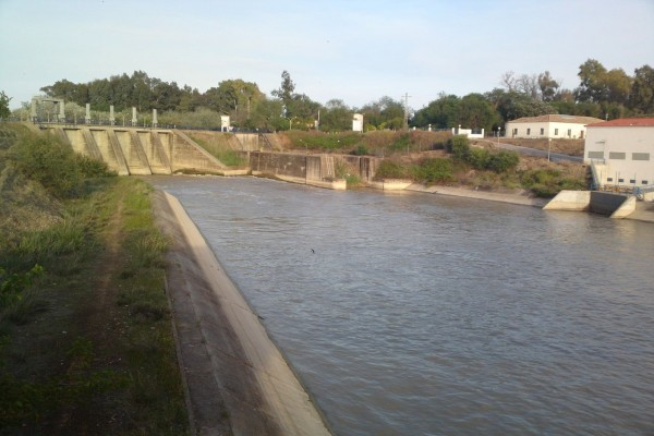 """""""Canal de los Presos"""" en el Embalse de Peñaflor (Sevilla, España)"""