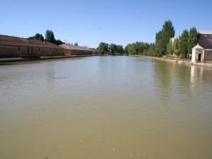 Postal: Embarcadero del Canal de Castilla, en Medina de Rioseco