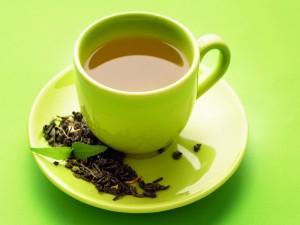 Postal: Taza de té verde