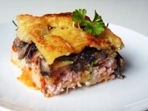 Lasaña de patata y otras verduras
