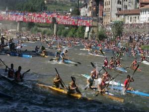 Postal: Descenso Internacional del Río Sella, Arriondas, Asturias