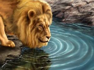 Postal: El gran león
