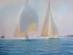 Pintura de barcos a vela