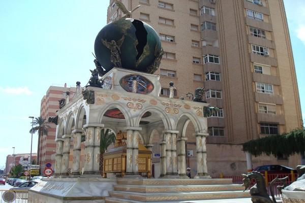 Carroza de la visión de San Juan (Semana Santa de Lorca, España)