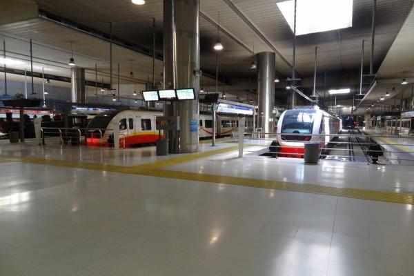 Andenes de la Estación Intermodal (Mallorca, España)