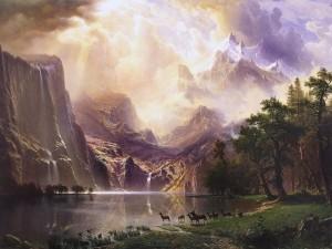 Entre las montañas de Sierra Nevada (California), por Albert Bierstadt (1868)