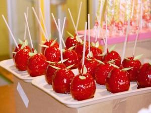 Postal: Manzanas acarameladas