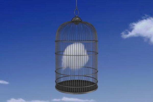 Nube atrapada en una jaula