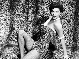 Postal: Ava Gardner vestida de leopardo