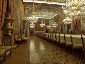 Comedor de gala del Palacio Real de Madrid