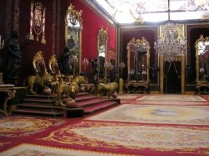 Postal: Salón del Trono del Palacio Real de Madrid